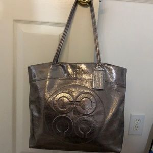 Coach gently used bag and wallet to match.Gunmetal